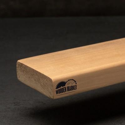 Лежак для сауни вільха 25*80*1500 мм вищий гатунок